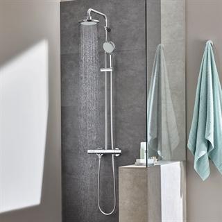 grohe dusjs yle og dusjpanel et dusjsystem til boligen din. Black Bedroom Furniture Sets. Home Design Ideas